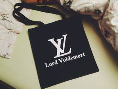 Lord Voldemort  hand printed  TOTE BAG by miskabags on Etsy