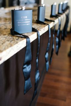 Gift idea for the groomsmen. Photo by Amanda Watson Photography. | www.mysweetengagement.com