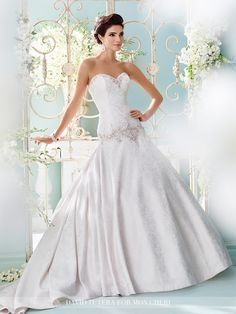 David Tutera - Cyan - 216243 - All Dressed Up, Bridal Gown