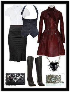"""""""Business Goth"""" by jonelle-gingerbread-edwards on Polyvore"""