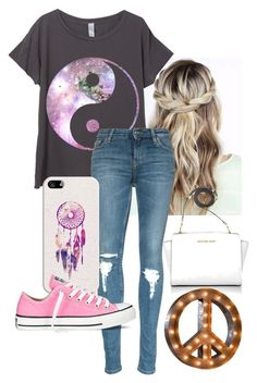 """""""thanks for 1.1k! ❤"""" by queen-hstyles ❤ liked on Polyvore featuring Casetify, Converse, Michael Kors, women's clothing, women, female, woman, misses and juniors"""