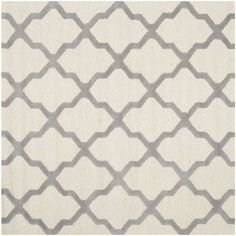 Safavieh Cambridge Liam Hand-Tufted Wool Area Rug, White