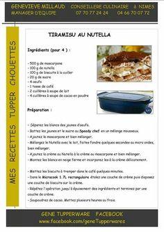 Dessert - Tiramisu au nutella - Tupperware