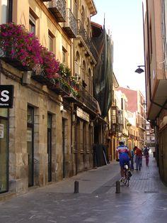 Streets of Astorga, Spain on the Camino de Santiago #bicycle #travel