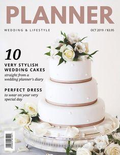 Beige Cake Wedding Magazine Cover Template Fiestas Party Cool Stuck
