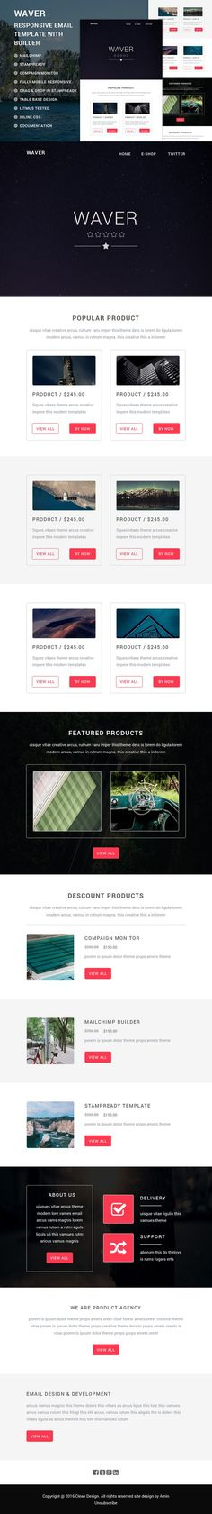 Touchy Responsive Email Template  Responsive Email Email