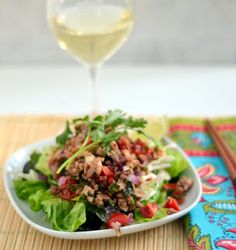 The Foodie Couple: Grilled Minty Thai Chicken Salad (Larb Gai)