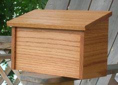 Oak Mailbox