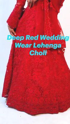 Deep Red Wedding, Bridal Lehenga Choli, White Wedding Dresses, Wedding Wear, Trendy Dresses, Bridal Style, Indian Fashion, Party Dress, Weddings