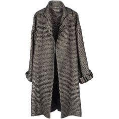 Jean Paul Gaultier Coat (2.590 BRL) ❤ liked on Polyvore featuring outerwear, coats, jackets, coats & jackets, black, tweed wool coat, lapel coats, print coat, tweed coats and jean-paul gaultier