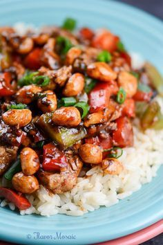 Who needs take out when you can make this easy Kung Pao Chicken Recipe at home? Delicious sauce, flavorful chicken, & traditional nuts & vegetables.