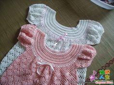 платье для девочки крючком схема