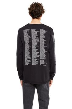 Yang Li, Reference Long-Sleeve T-Shirt Part of Yang Li's SAMIZDAT merch series, this straight-fit long-sleeve tee features a list of the band's inspirations that include music, film, philosophy, literature, and art., Crewneck, Ribbed collar and cuffs, Straight fit, 100% cotton, Imported