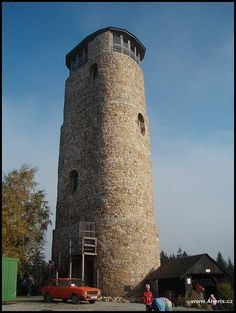 Brdo ve Chřibech Lookout Tower, Czech Republic, Prague, Pisa, Lighthouse, Building, Travel, Towers, Bell Rock Lighthouse
