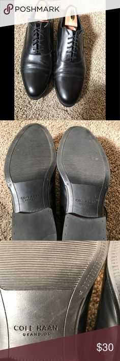 Cole Haan Grand OS dress shoes. Waterproof! 11W Black Cole Haan Grand OS dress shoes. 11W. Only worn one time. Like new condition. Waterproof! Make offer! Cole Haan Shoes Oxfords & Derbys