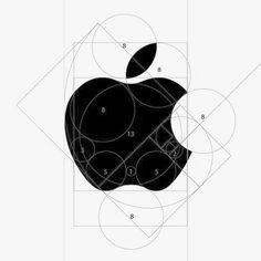 the Apple logo mark is make by golden ratio only. Doodle Drawing, Drawing S, Apple Logo, Hand Logo, Logo Template, Pixel Design, Website Design, E Mc2, Monogram Alphabet
