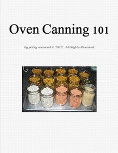 Oven-Canning 101 Free Ebook
