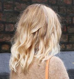 Blonde Long Bob #hair #blonde #wavy #lob