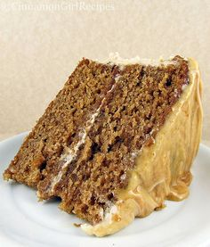 Caramel Apple Layer Cake with Cinnamon Cream Cheese Frosting
