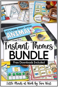 Completely transform your teaching with these FUN & engaging, yet still rigorous, lessons and activities! These INSTANT Theme packets are perfect preschool and kindergarten offer engaging, hands-on material for each themed set. The INSTANT Themes packets are completely comprehensive...toss in a few hands-on manipulatives and let the learning begin. Click the pin to see all the themes included in the money-saving bundle!