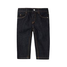 Stretch-cotton jeans 3-36 months (£31) via Polyvore featuring jeans, stretch jeans, super stretch jeans, 5 pocket jeans and stretchy jeans