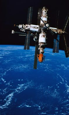 A Space Station In Orbit Above Earth