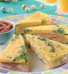 Omelette de espinaca #receta #facil #rapida