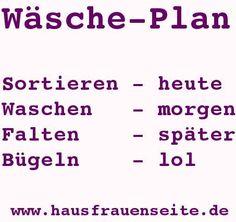 Wäsche-Plan