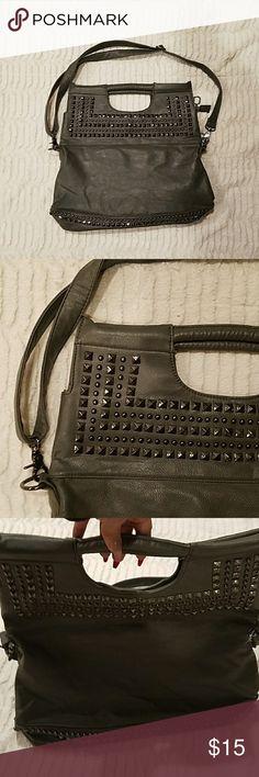 Gray Studded Fashion Handbag Studded handbag. Very roomy. Bags Totes