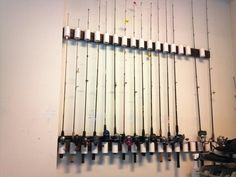 Finally, a way to organize fishing rods without taking up floor space