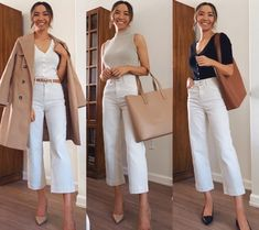 Business Casual Outfits For Women, Stylish Work Outfits, Business Casual Attire, Work Casual, Classy Outfits, Casual Work Clothes, Work Clothes Women, Summer Casual Outfits For Women, Smart Casual Outfit Summer