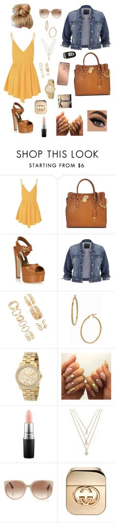 """""""Untitled #312"""" by tekerrafletcher ❤ liked on Polyvore featuring Glamorous, Michael Kors, Brian Atwood, maurices, Forever 21, Bony Levy, Juicy Couture, MAC Cosmetics, Tom Ford and Mura"""