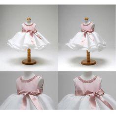 Mädchen Kinder Baby Ärmellos Prinzessin Blumenmädchen Kommunionkleid Festkleid
