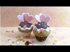 Fimo Tutorial- Valentine's Cupcake - YouTube - this is a clay tutorial but I still think this would be beautiful on a real cupcake!