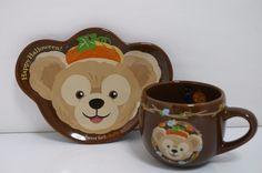 Tokyo Disneysea Duffy Souvenir Plate and Mug cup Set 2009 Halloween
