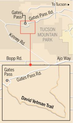 The gently winding Yetman Trail near Tucson.