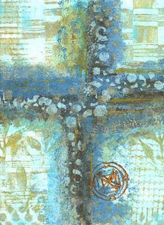 Diannes Creative Place: Anne Bagby Workshop collage made using deli papers (could be done with Gelli prints!)