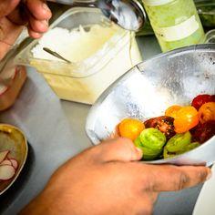 Summer Vegetable Salad, Citrus Crème Fraiche, Tarragon Puree Creme Fraiche, Vegetable Salad, Food Preparation, Cheese, Vegetables, Summer, Beautiful, Summer Time, Vegetable Salad Recipes