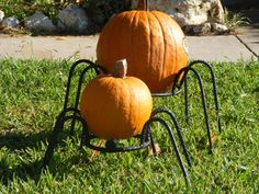 Rebar pumpkin holders! Or I could make giant spiders for halloween.