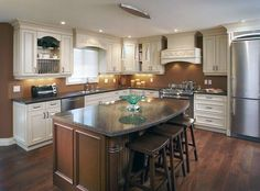 l shaped kitchens with island - Google Search