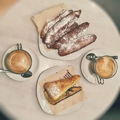 I know you guys like the photos of my unhealthy breakfasts   This one we got in one of the cheapest and most delicious bakeries of #Barcelona. All the locals have a morning cup of strong black #coffee there  And no it is not my regular #breakfast   #RushAway #RushAwayBlog #RushAwayTravel #Spain