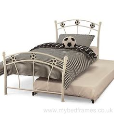 Soccer White Single Bed - available to buy online or at Choice Furniture Superstore UK on stockist sale price. Get volume - discount with fast and Free Delivery. Wooden Bed Frames, Dreams Beds, Leather Bed, One Bed, Childrens Beds, Online Furniture Stores, Beds Online, Guest Bed, Furniture Assembly