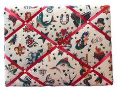 Handmade Bespoke Retro / Vintage Fabric Memo by JessicasRetroGifts