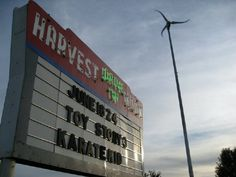 The Harvest Moon Drive-In! Just outside Champaign in Mahomet. I never did make it here during undergrad because it shut down for awhile. Hope to make it there this time around!