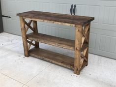 X Console Table - Handmade Haven Diy Furniture Plans, Diy Furniture Projects, Woodworking Projects Diy, Refurbished Furniture, Rustic Furniture, Furniture Care, Woodworking Books, Furniture Storage, Handmade Furniture