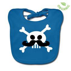 Babero ecológico bebé Pirat Moustache Baby - Colección Miscellanea Desastre - Inutile T-Shirts