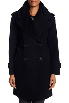 size 8 - Notch Collar Double Breasted Wool Blend Coat by DEREK LAM 10 CROSBY on @nordstrom_rack