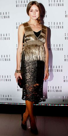 Black Lace Dress  Olivia Palermo - Look of the Day - InStyle
