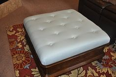 how to reupholster an ottoman and how to make a tufted ottoman