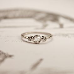 Rings Simple 16 Subtle Engagement Rings for Girls Who Don't Love Bling via - A massive, incredibly eye-catching engagement ring isn't for everyone. Shop beautiful, subtle engagement rings instead. Bling Bling, Small Engagement Rings, Trilogy Engagement Ring, Platinum Engagement Rings, Solitaire Engagement, Simple Elegant Engagement Rings, Ruby Engagement Ring Vintage, Engagement Bands, Platinum Ring